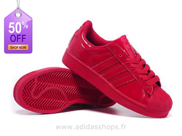 adidas superstar couleur rouge