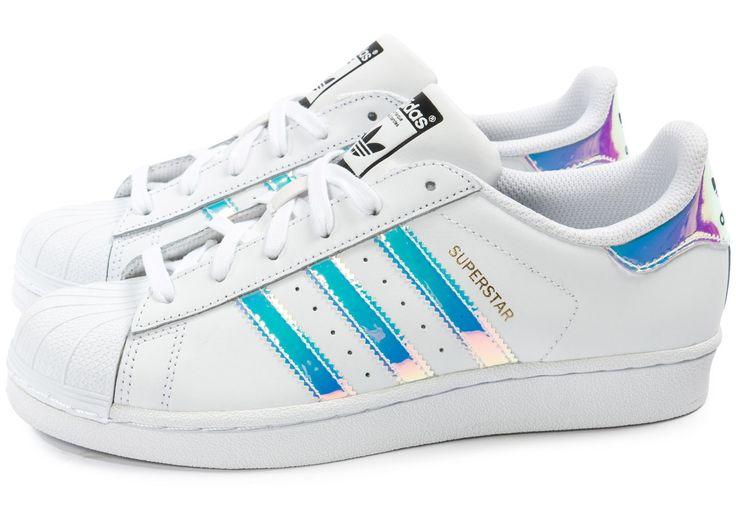 adidas superstar holographique blanche femme