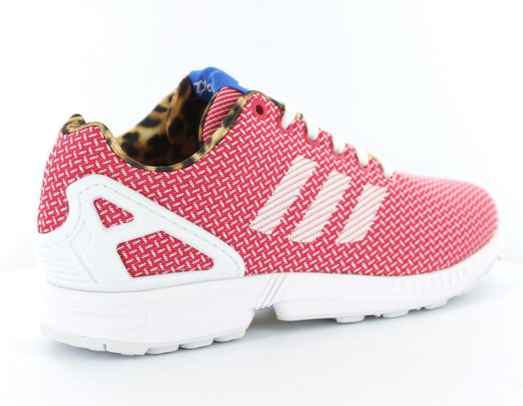 adidas zx flux rose blanc