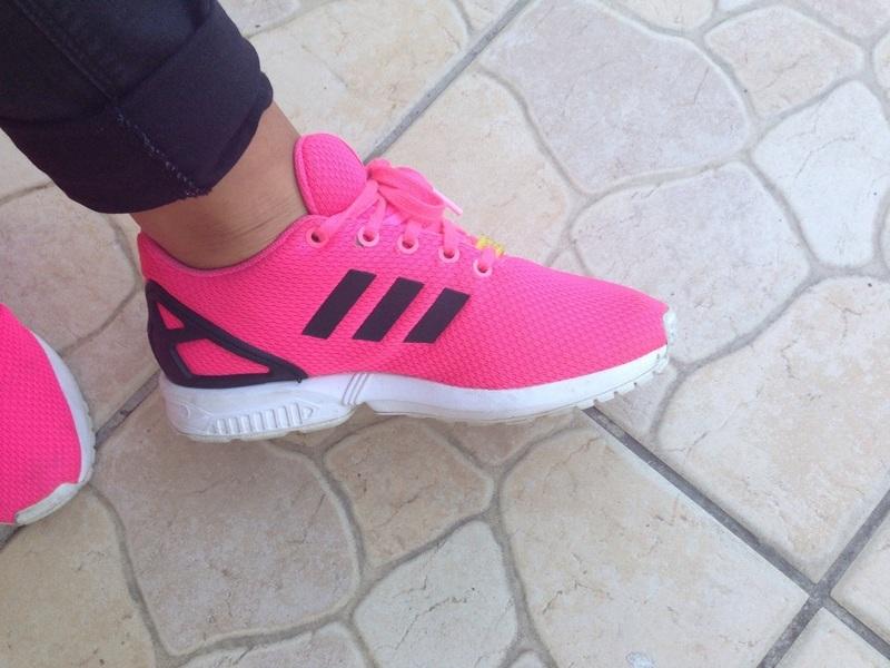 adidas zx flux rose noir et blanche