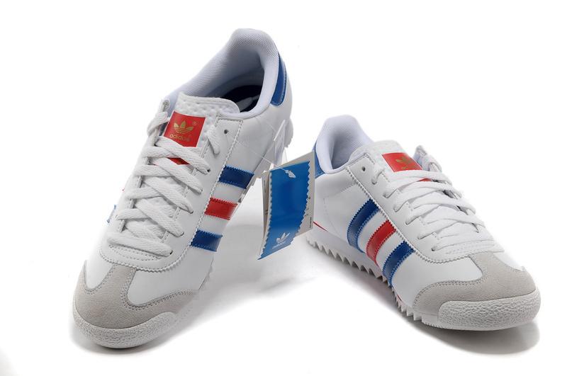 adidas dragon homme bleu blanc rouge
